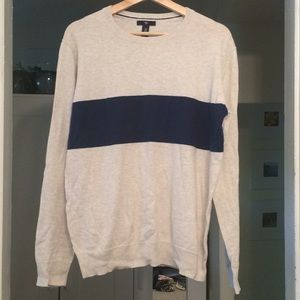 Beige and navy sweater from Gap